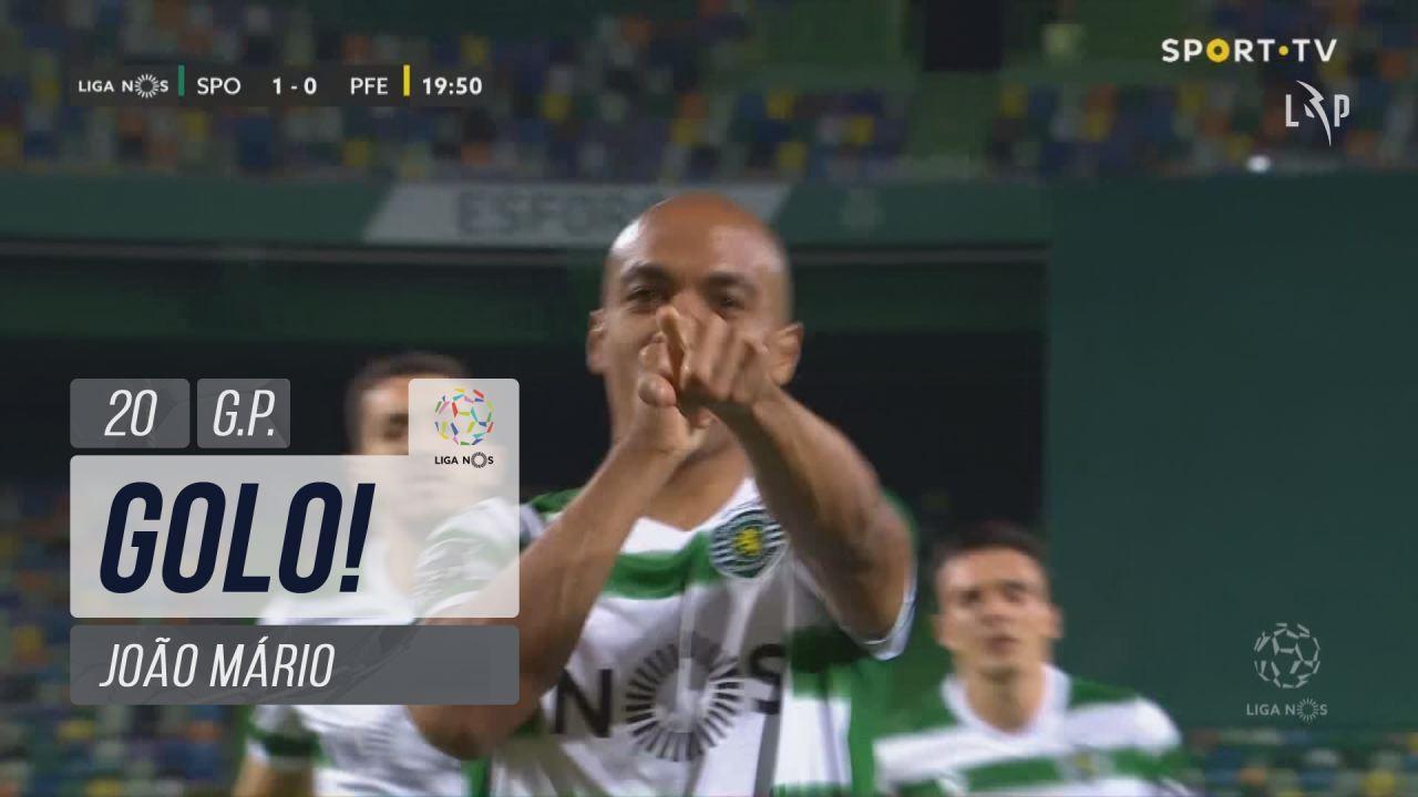 GOLO! Sporting CP, João Mário aos 20', Sporting CP 1-0 FC P.Ferreira