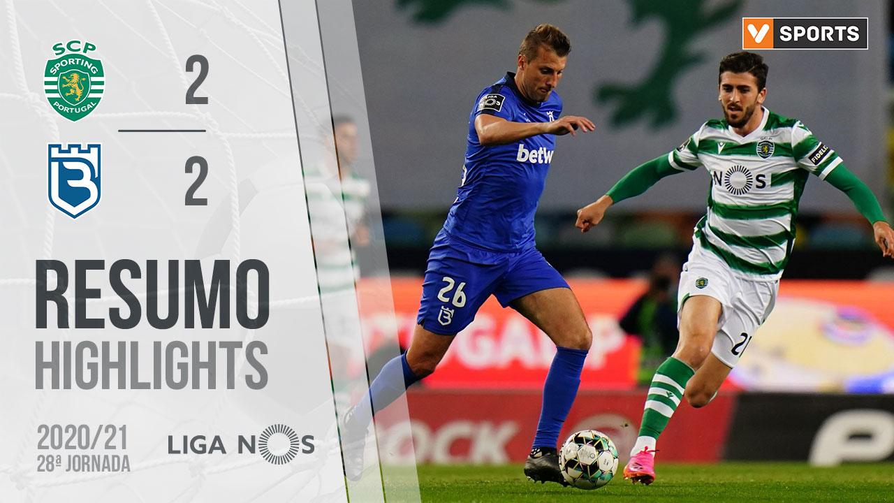 Liga NOS (28ªJ): Resumo Sporting CP 2-2 Belenenses SAD