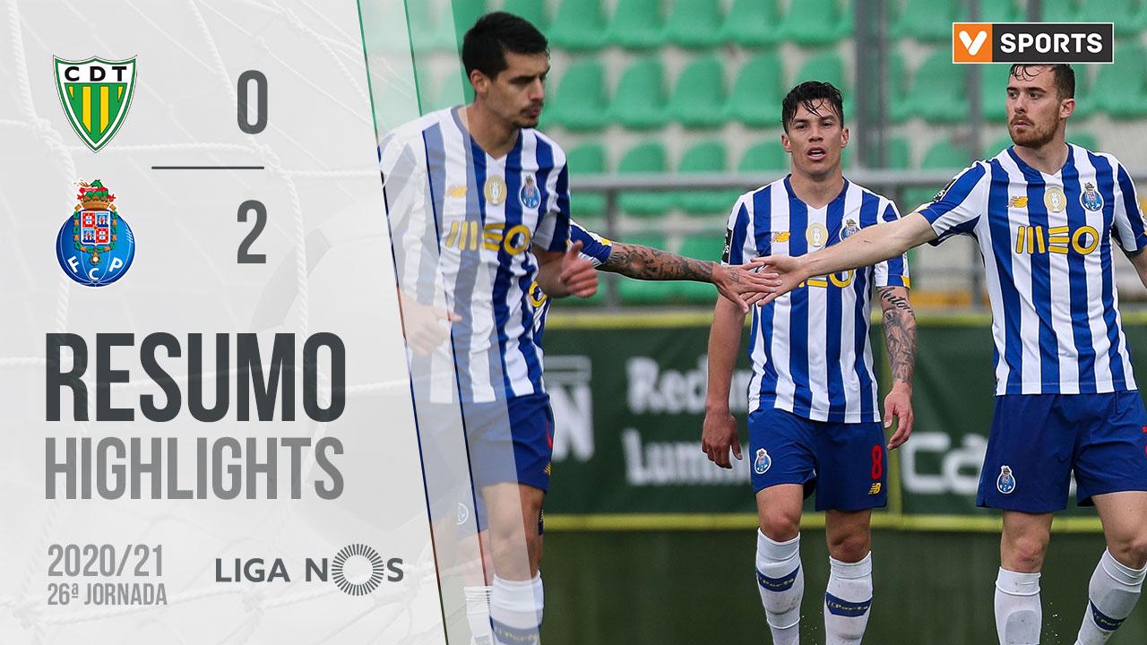 Liga NOS (26ªJ): Resumo CD Tondela 0-2 FC Porto