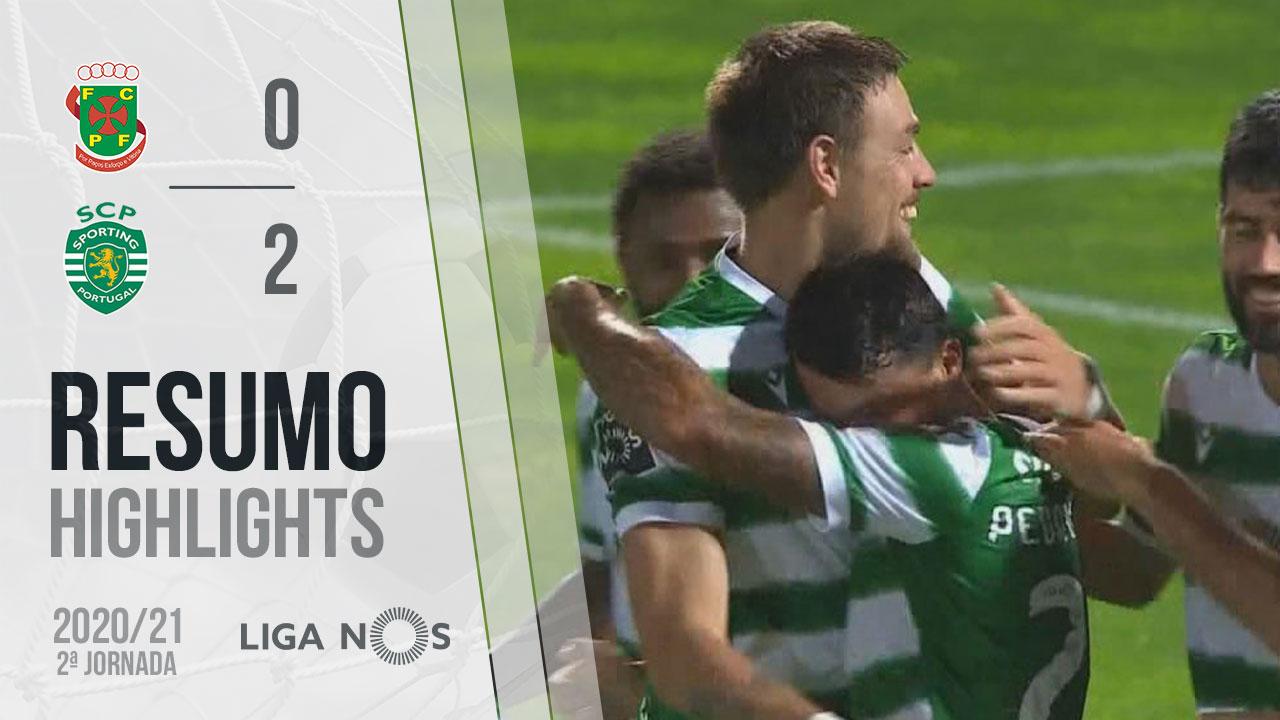 Liga NOS (2ªJ): Resumo FC P.Ferreira 0-2 Sporting CP