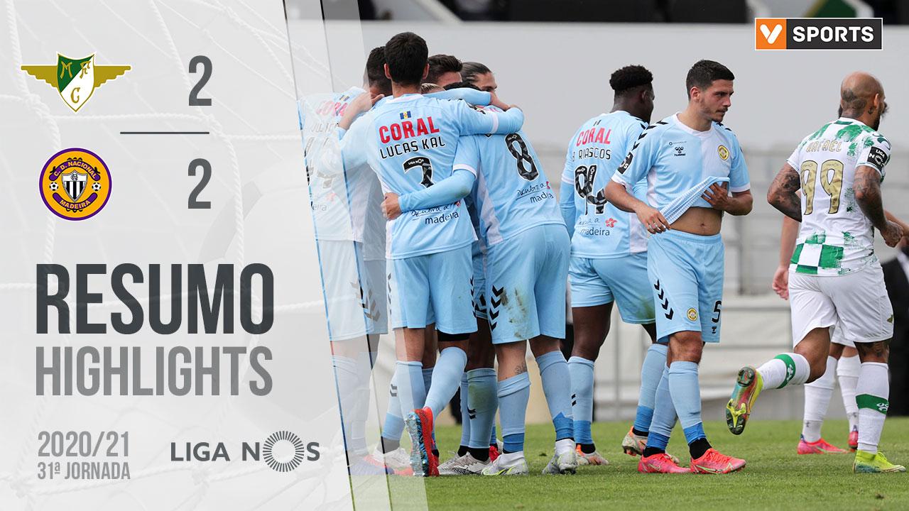 Liga NOS (31ªJ): Resumo Moreirense FC 2-2 CD Nacional