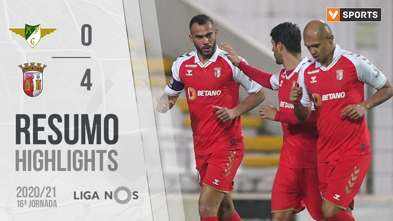 Liga NOS (16ªJ): Resumo Moreirense FC 0-4 SC Braga