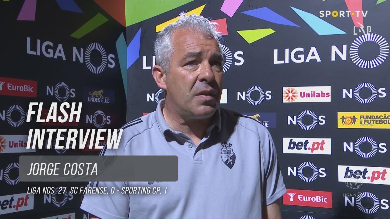 """Jorge Costa: """"Este Farense merece mais respeito"""""""