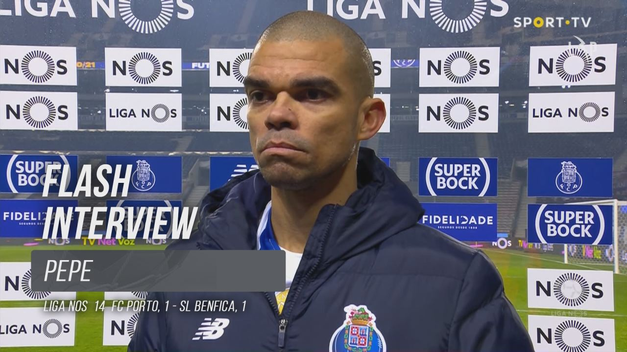 """Pepe: """"O Benfica demonstrou respeito pela nossa equipa"""""""