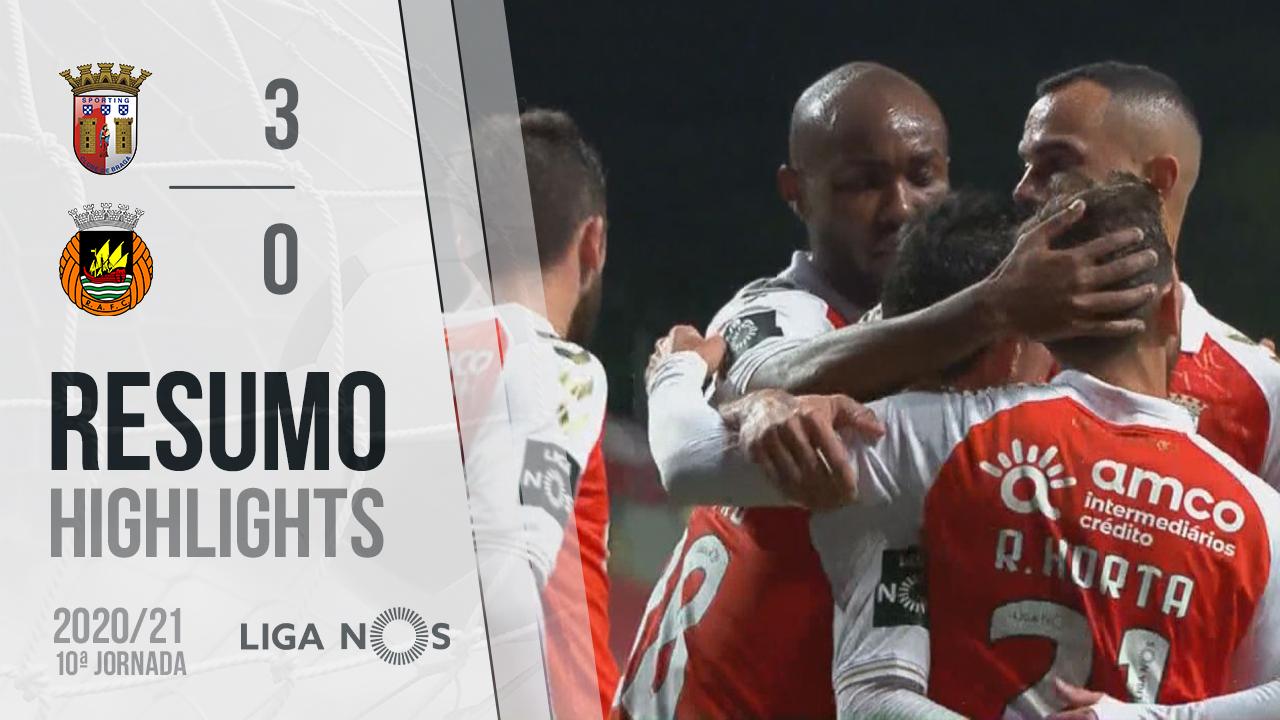 Liga NOS (10ªJ): Resumo SC Braga 3-0 Rio Ave FC