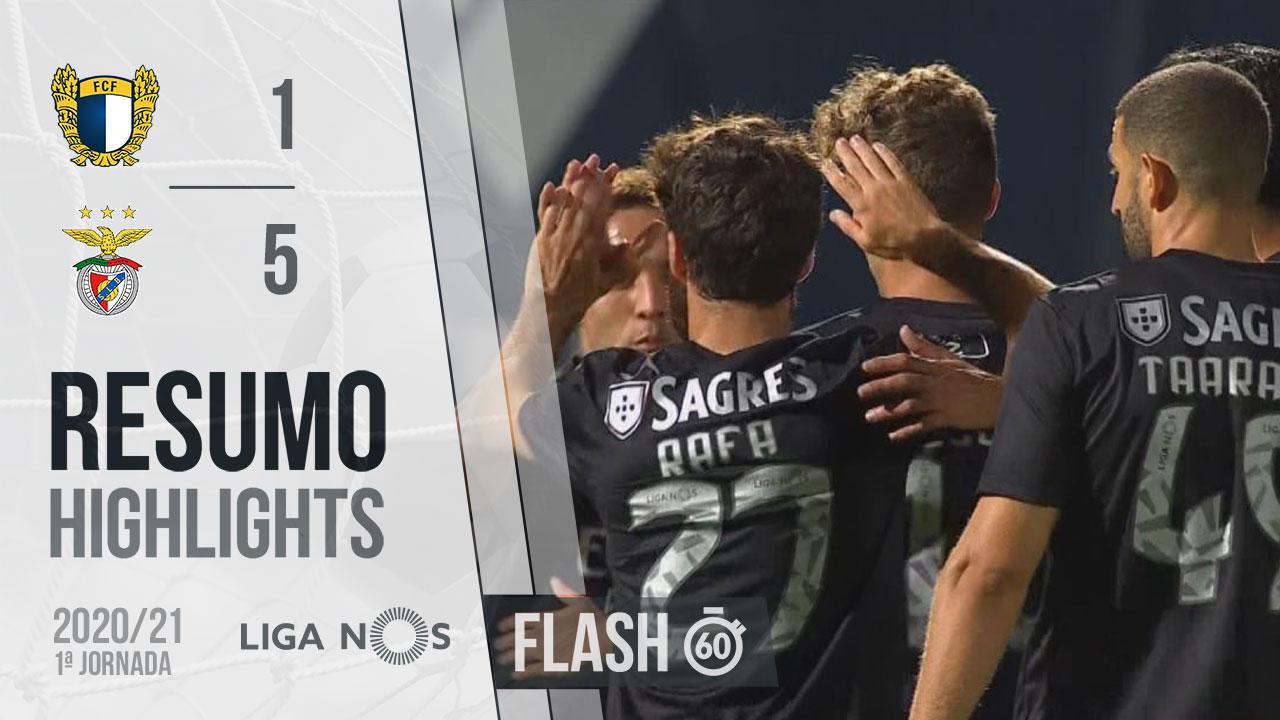 Liga NOS (1ªJ): Resumo Flash FC Famalicão 1-5 SL Benfica
