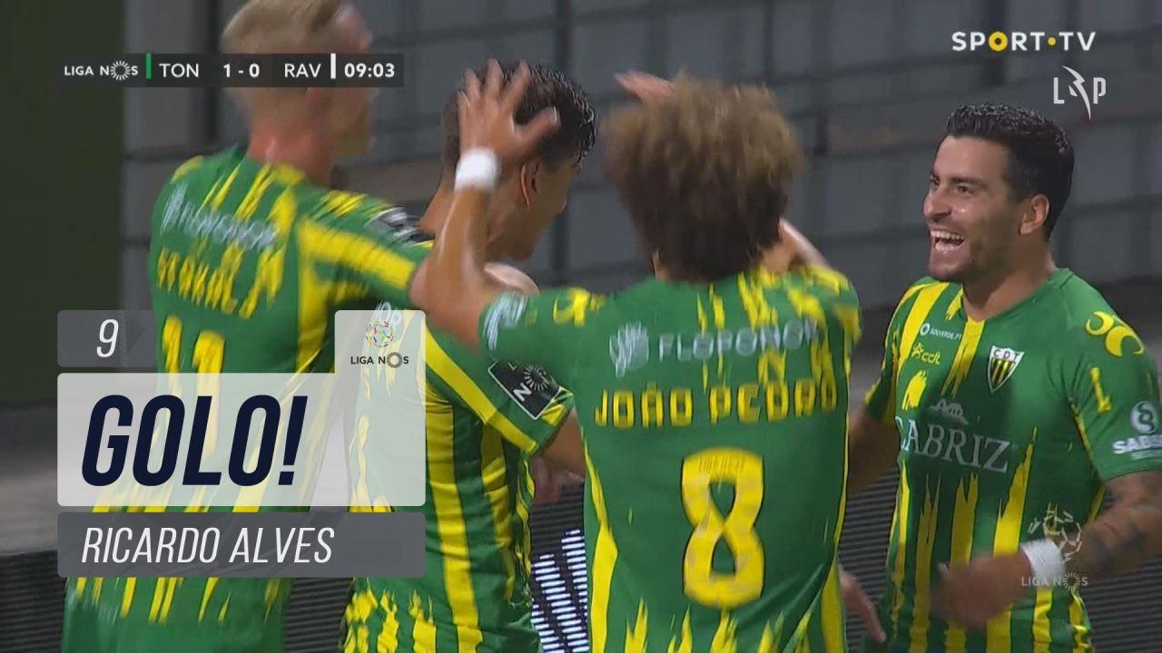 GOLO! CD Tondela, Ricardo Alves aos 9', CD Tondela 1-0 Rio Ave FC