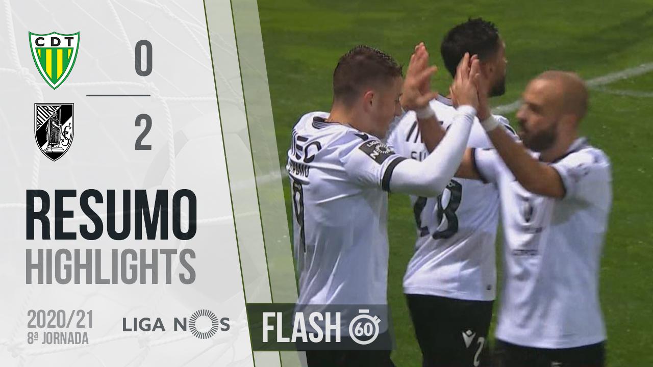 I Liga (8ªJ): Resumo Flash CD Tondela 0-2 Vitória SC