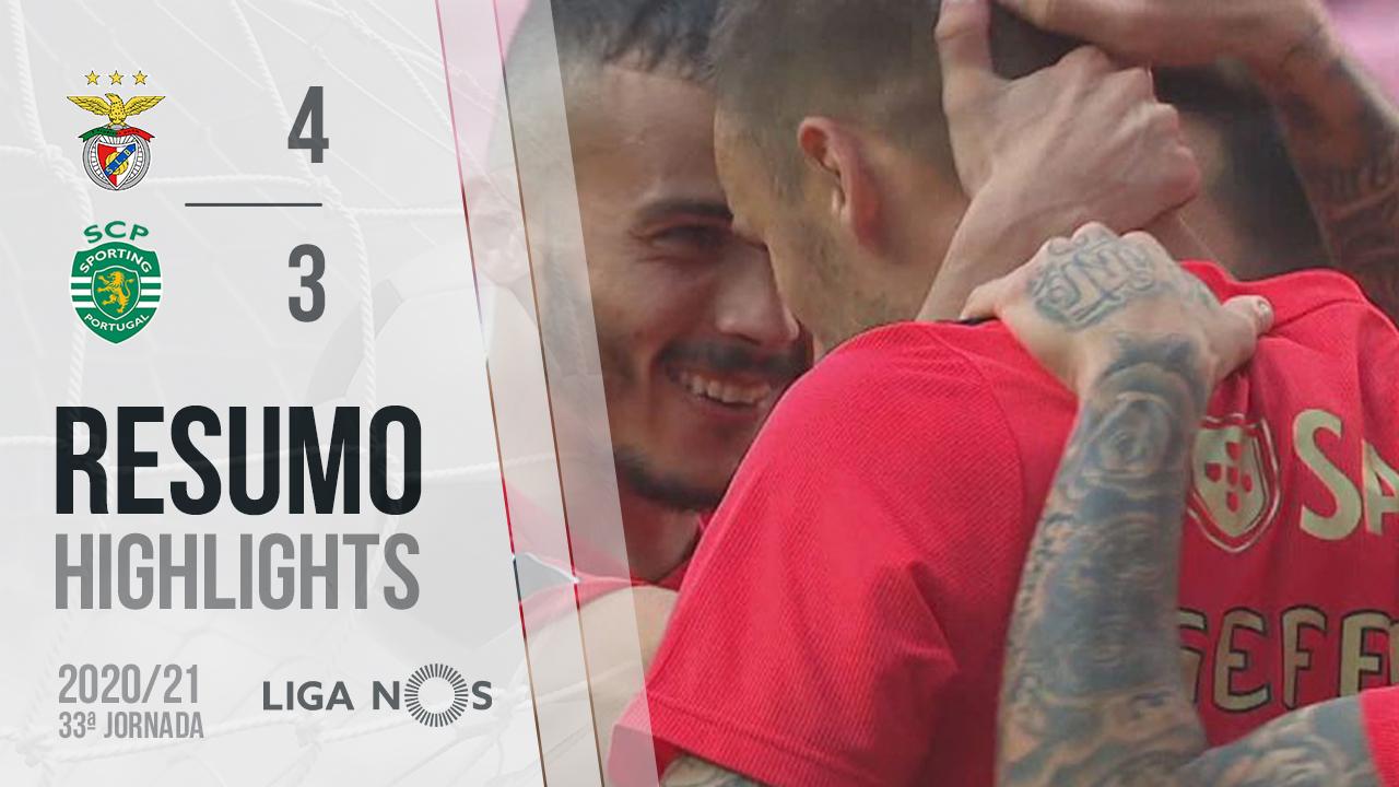 Liga NOS (33ªJ): Resumo SL Benfica 4-3 Sporting CP