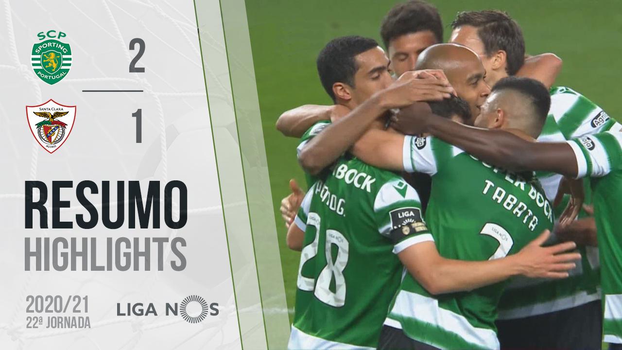 I Liga (22ªJ): Resumo Sporting CP 2-1 Santa Clara