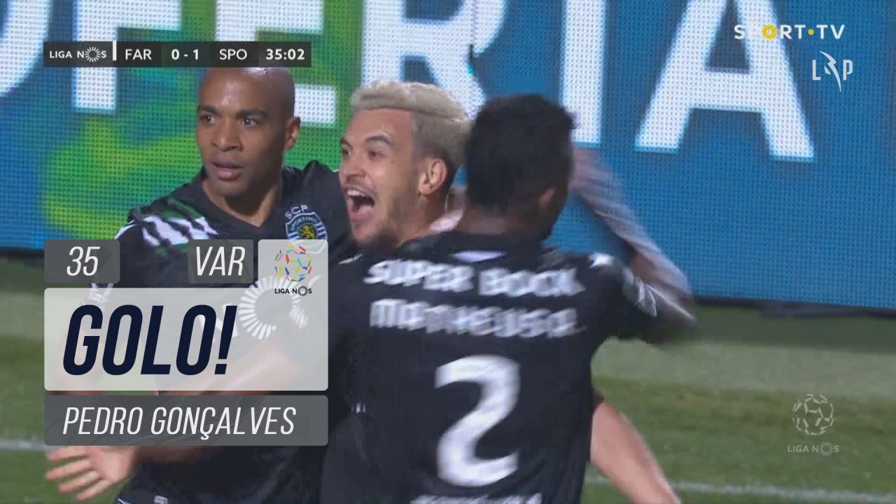GOLO! Sporting CP, Pedro Gonçalves aos 35', SC Farense 0-1 Sporting CP