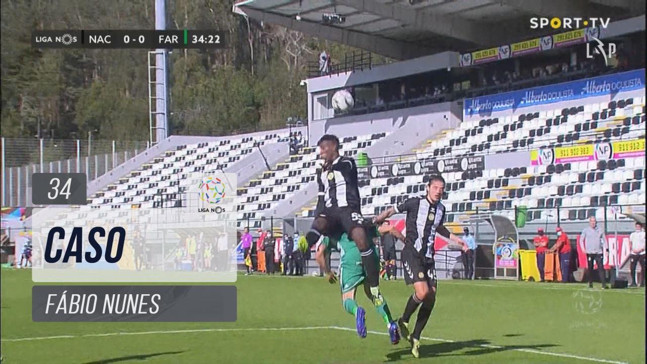 SC Farense, Caso, Fábio Nunes aos 34'