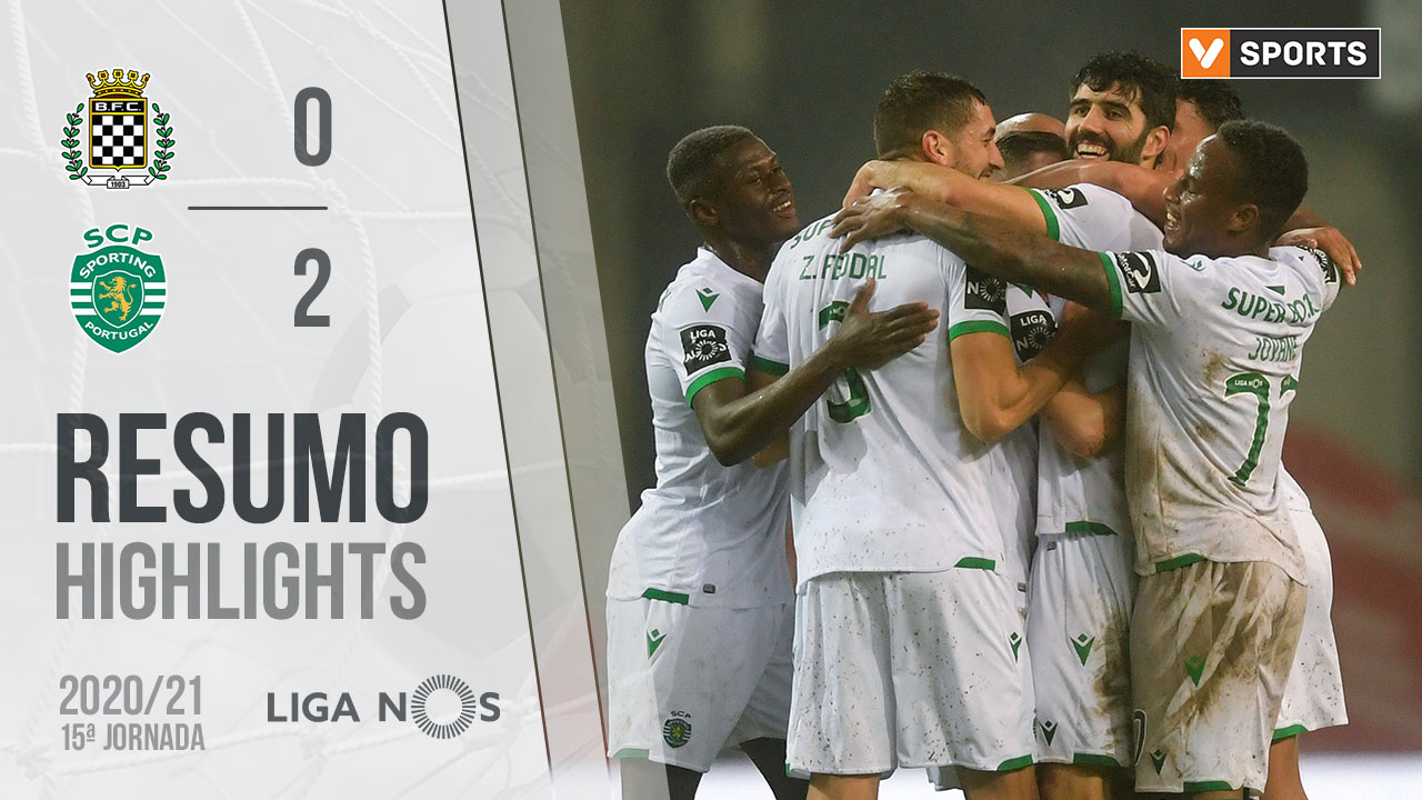 I Liga (15ªJ): Resumo Boavista FC 0-2 Sporting CP