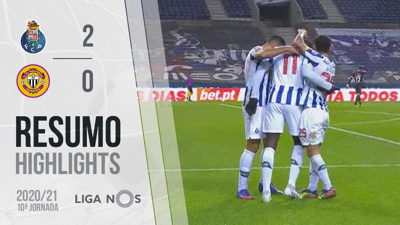 Liga NOS (10ªJ): Resumo FC Porto 2-0 CD Nacional