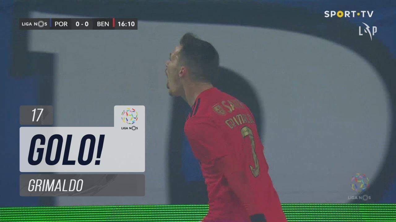 GOLO! SL Benfica, Grimaldo aos 17', FC Porto 0-1 SL Benfica