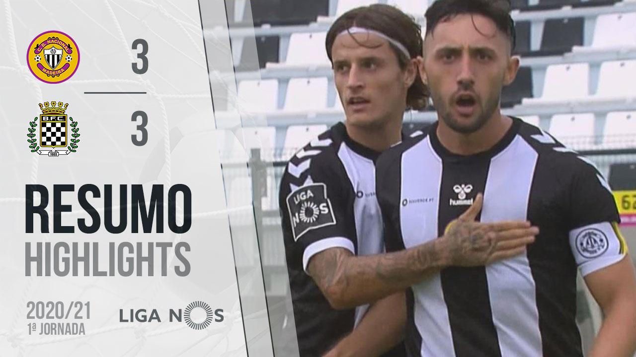Liga NOS (1ªJ): Resumo CD Nacional 3-3 Boavista FC