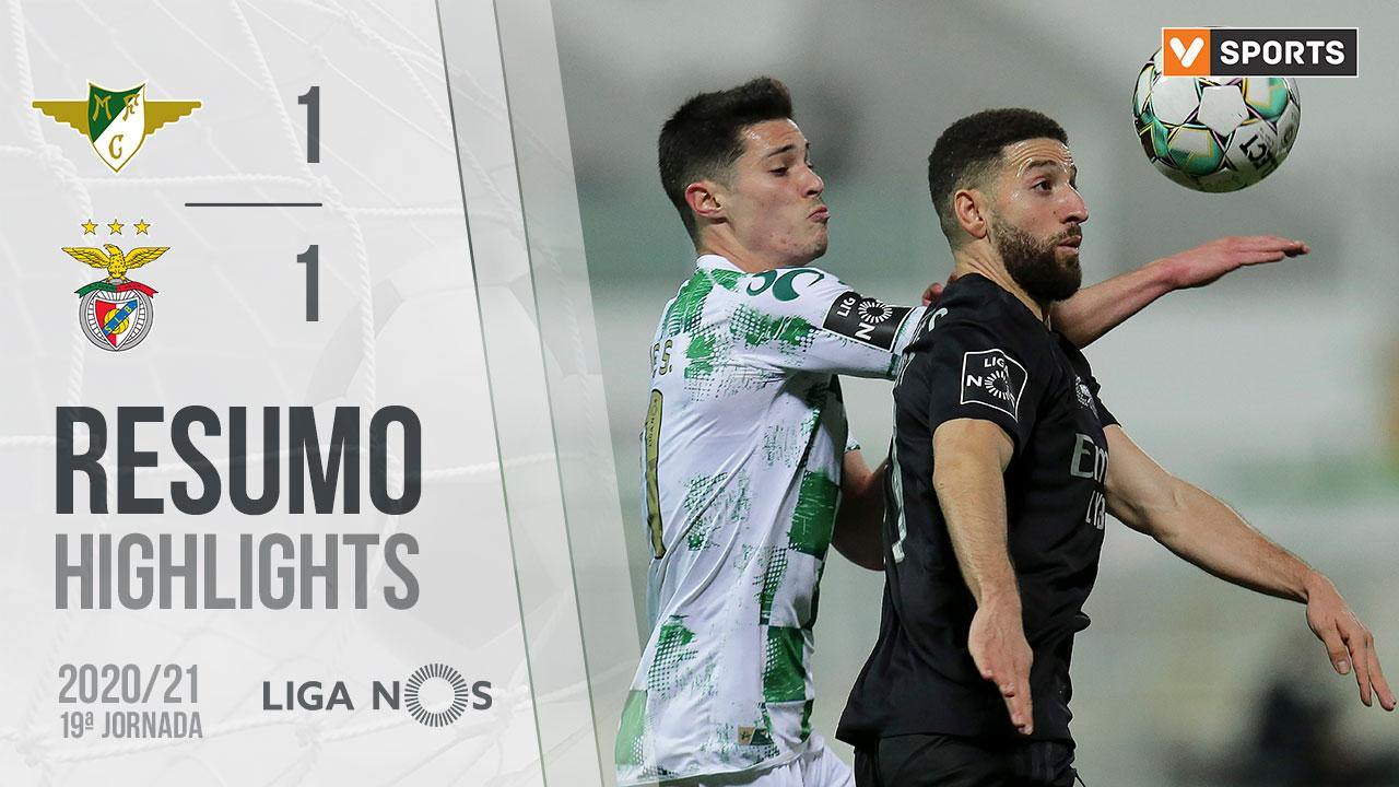 Liga NOS (19ªJ): Resumo Moreirense FC 1-1 SL Benfica