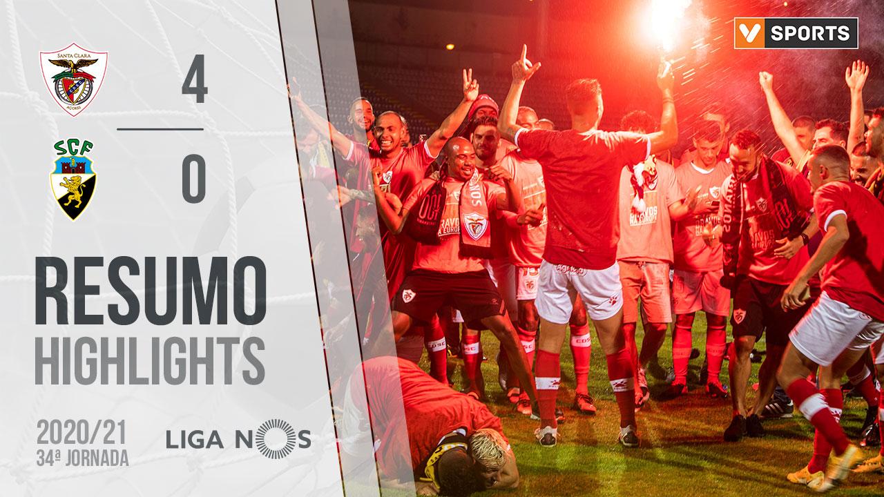Liga NOS (34ªJ): Resumo Santa Clara 4-0 SC Farense