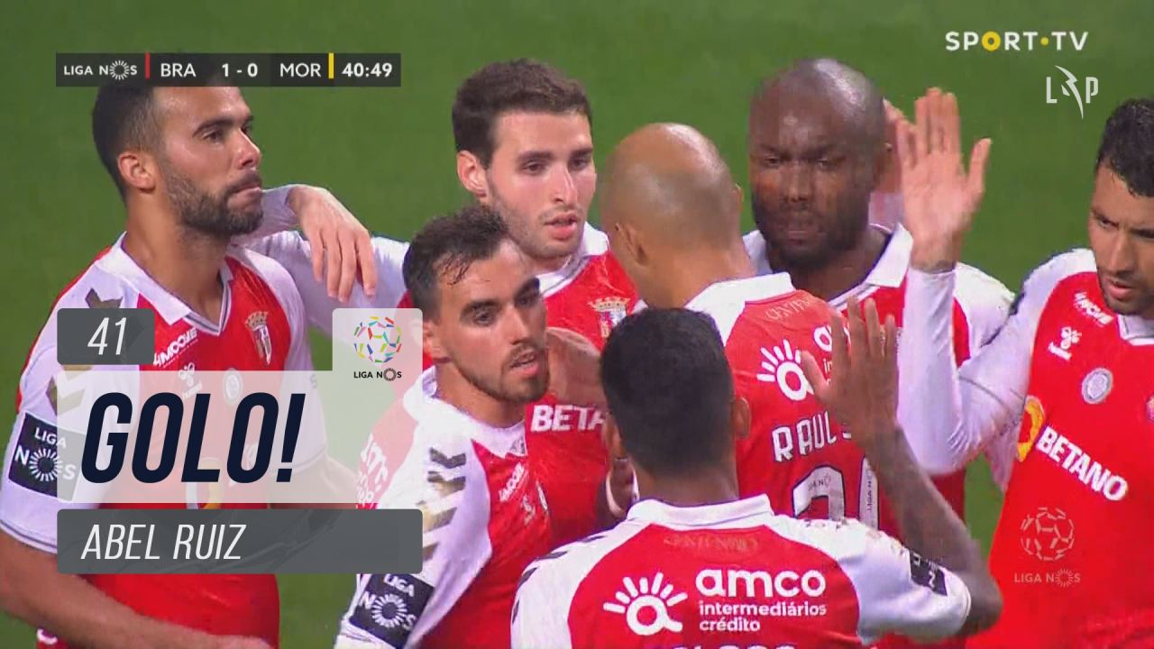 GOLO! SC Braga, Abel Ruiz aos 41', SC Braga 1-0 Moreirense FC