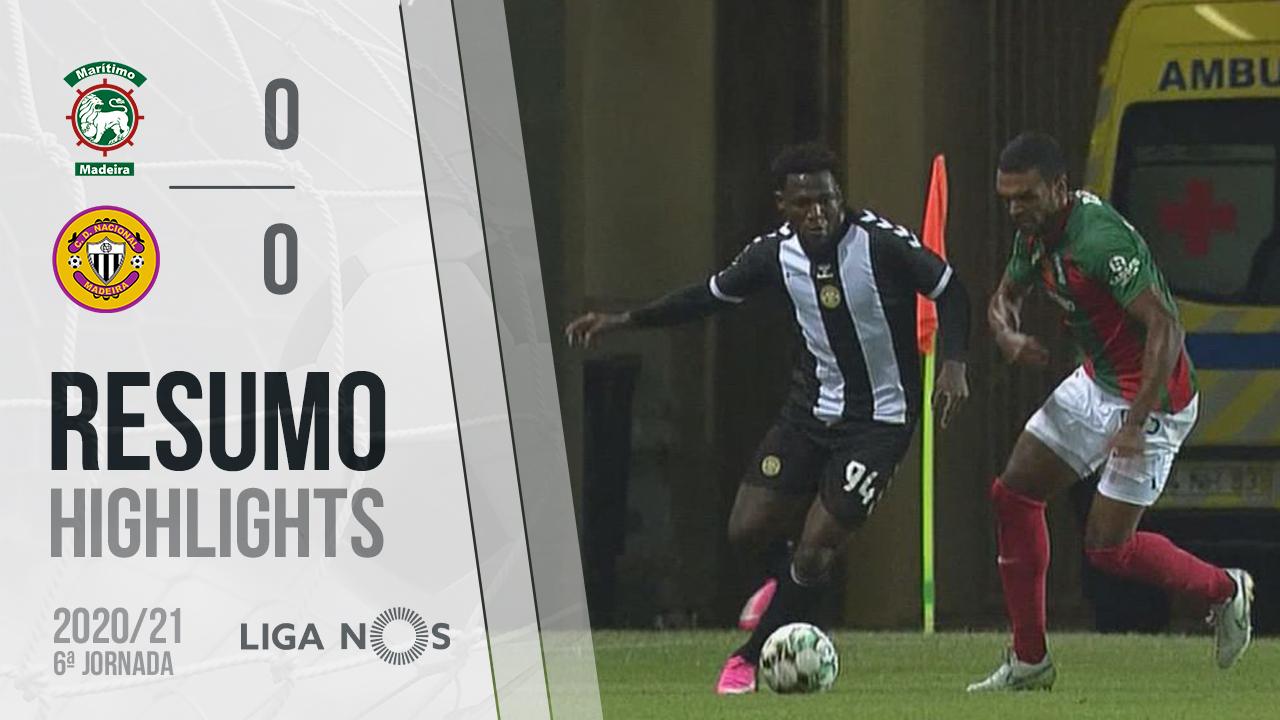 Liga NOS (6ªJ): Resumo Marítimo M. 0-0 CD Nacional