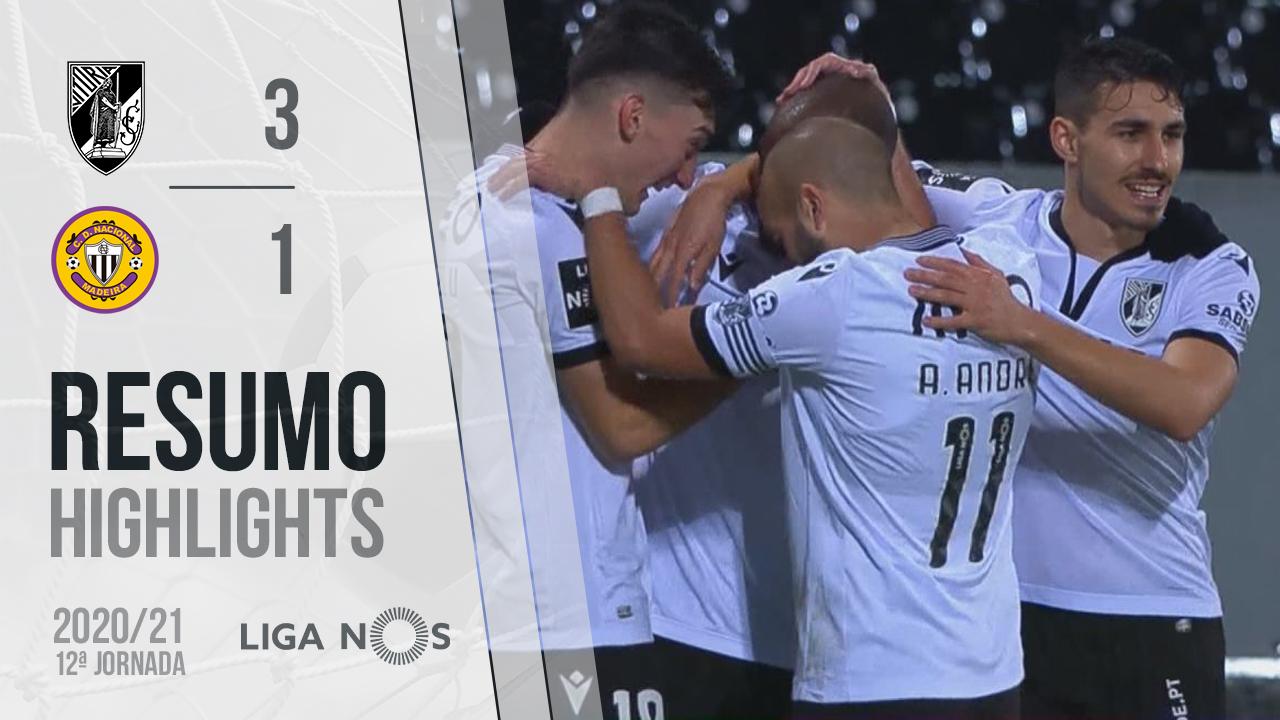 I Liga (12ªJ): Resumo Vitória SC 3-1 CD Nacional