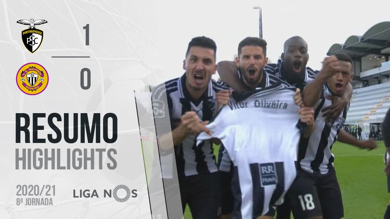 Liga NOS (8ªJ): Resumo Portimonense 1-0 CD Nacional