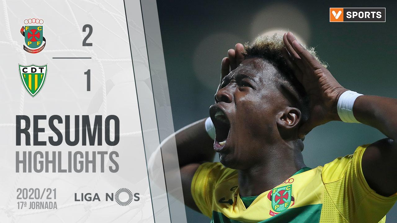 Liga NOS (17ªJ): Resumo FC P.Ferreira 2-1 CD Tondela