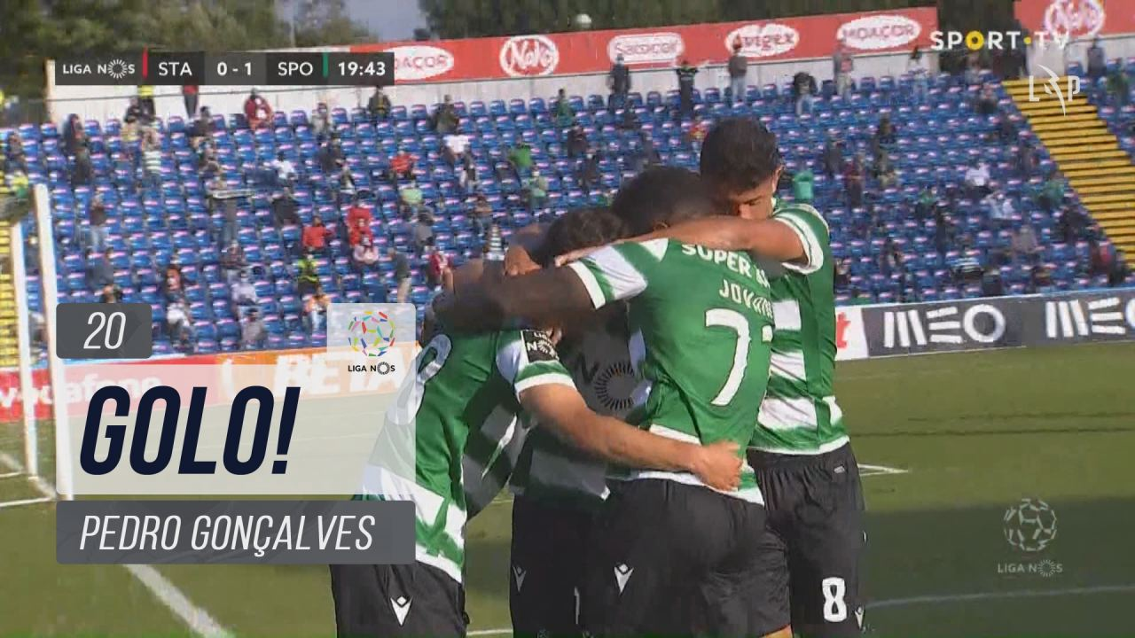GOLO! Sporting CP, Pedro Gonçalves aos 20', Santa Clara 0-1 Sporting CP