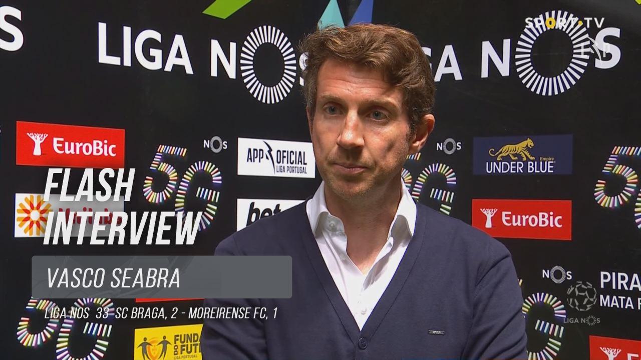 """Vasco Seabra: """"Fizemos um jogo de muita alma e dedicação"""""""