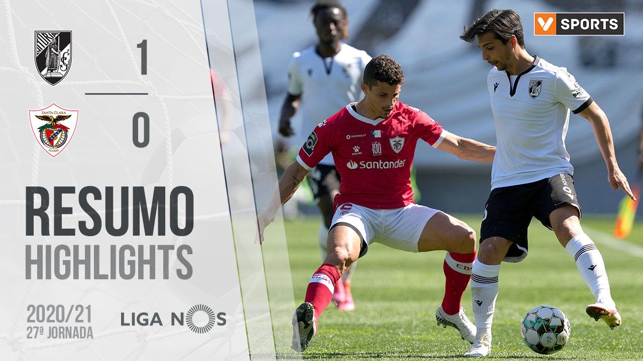 Liga NOS (27ªJ): Resumo Vitória SC 1-0 Santa Clara