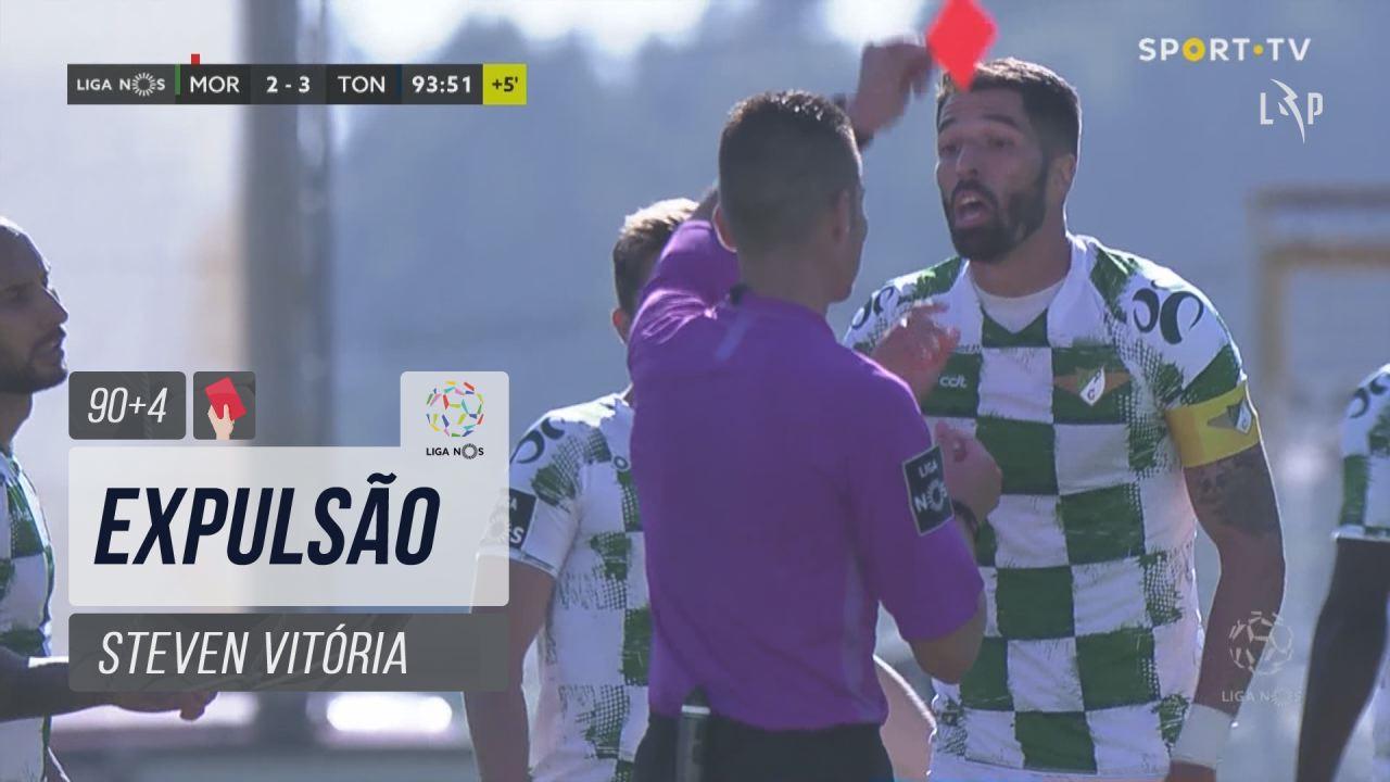 Moreirense FC, Expulsão, Steven Vitória aos 90'+4'