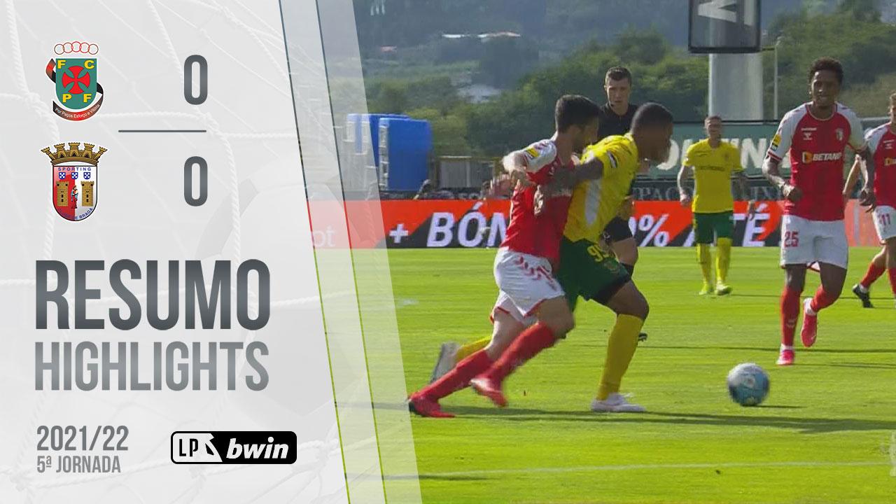 Liga Portugal bwin (5ªJ): Resumo FC P.Ferreira 0-0 SC Braga