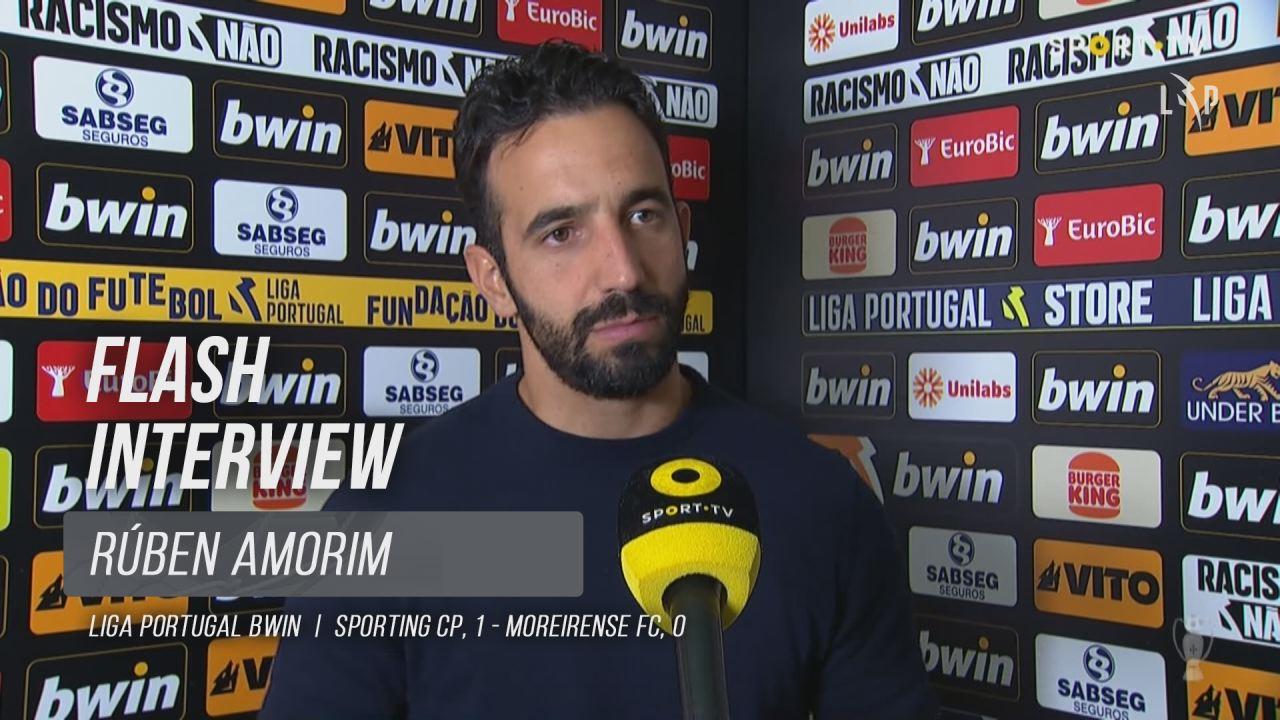 """Rúben Amorim: """"Não foi o melhor jogo da nossa equipa"""""""