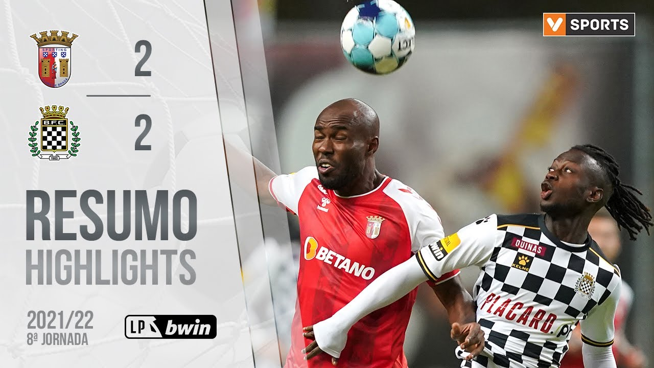 Liga Portugal bwin (8ªJ): Resumo SC Braga 2-2 Boavista FC