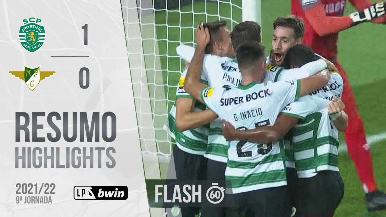 Liga Portugal bwin (9ªJ): Resumo Flash Sporting CP 1-0 Moreirense FC