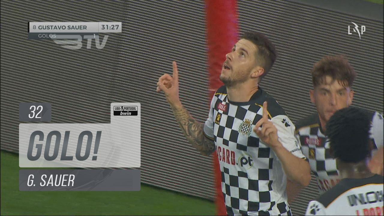 GOLO! Boavista FC, G. Sauer aos 32', SL Benfica 1-...