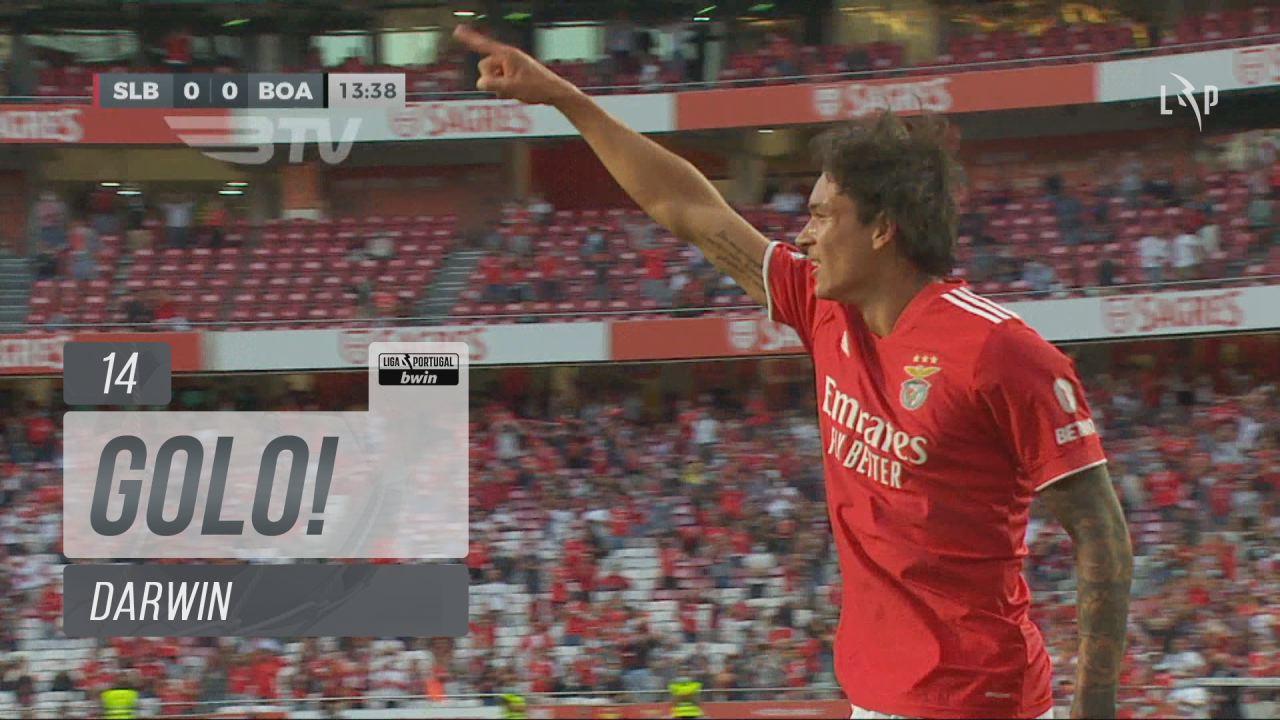 GOLO! SL Benfica, Darwin aos 14', SL Benfica 1-0 B...