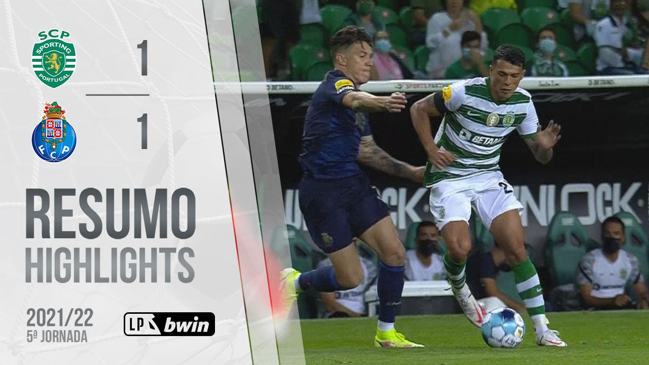 Liga Portugal bwin (5ªJ): Resumo Sporting CP 1-1 FC Porto