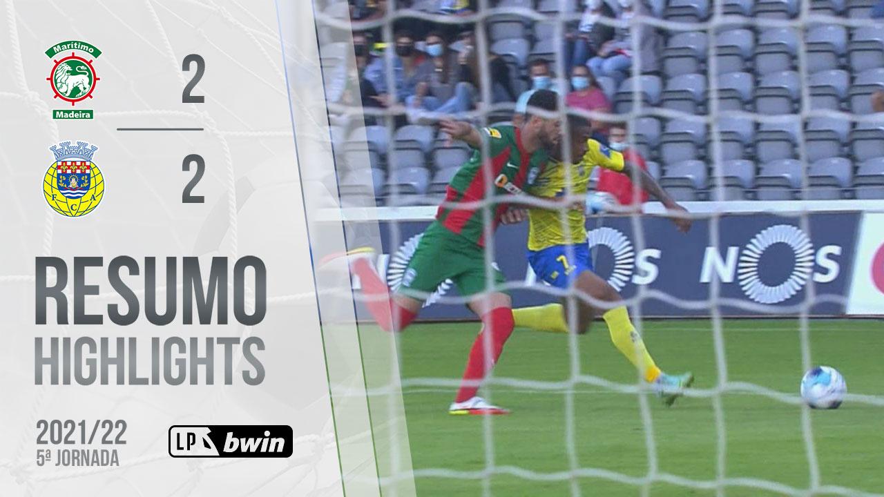 Liga Portugal bwin (5ªJ): Resumo Marítimo M. 2-2 FC Arouca