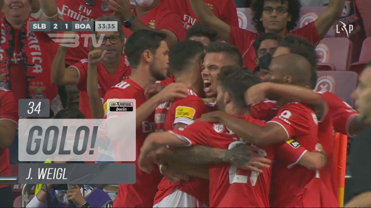 GOLO! SL Benfica, J. Weigl aos 34', SL Benfica 2-1...