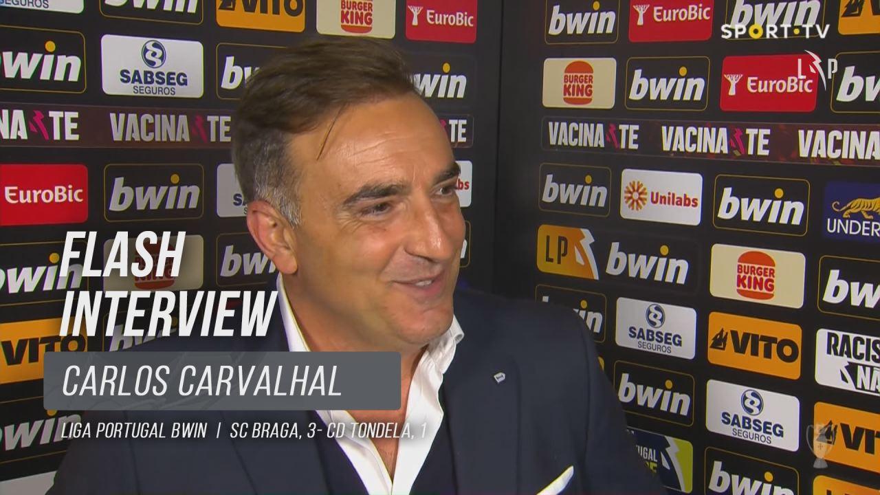 "Carlos Carvalhal: ""A equipa foi sempre serena"""