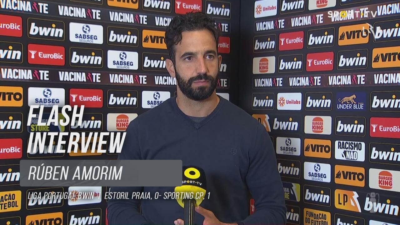 """Rúben Amorim: """"Fizemos um jogo muito competente"""""""
