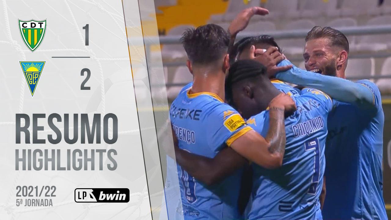 Liga Portugal bwin (5ªJ): Resumo CD Tondela 1-2 Estoril Praia