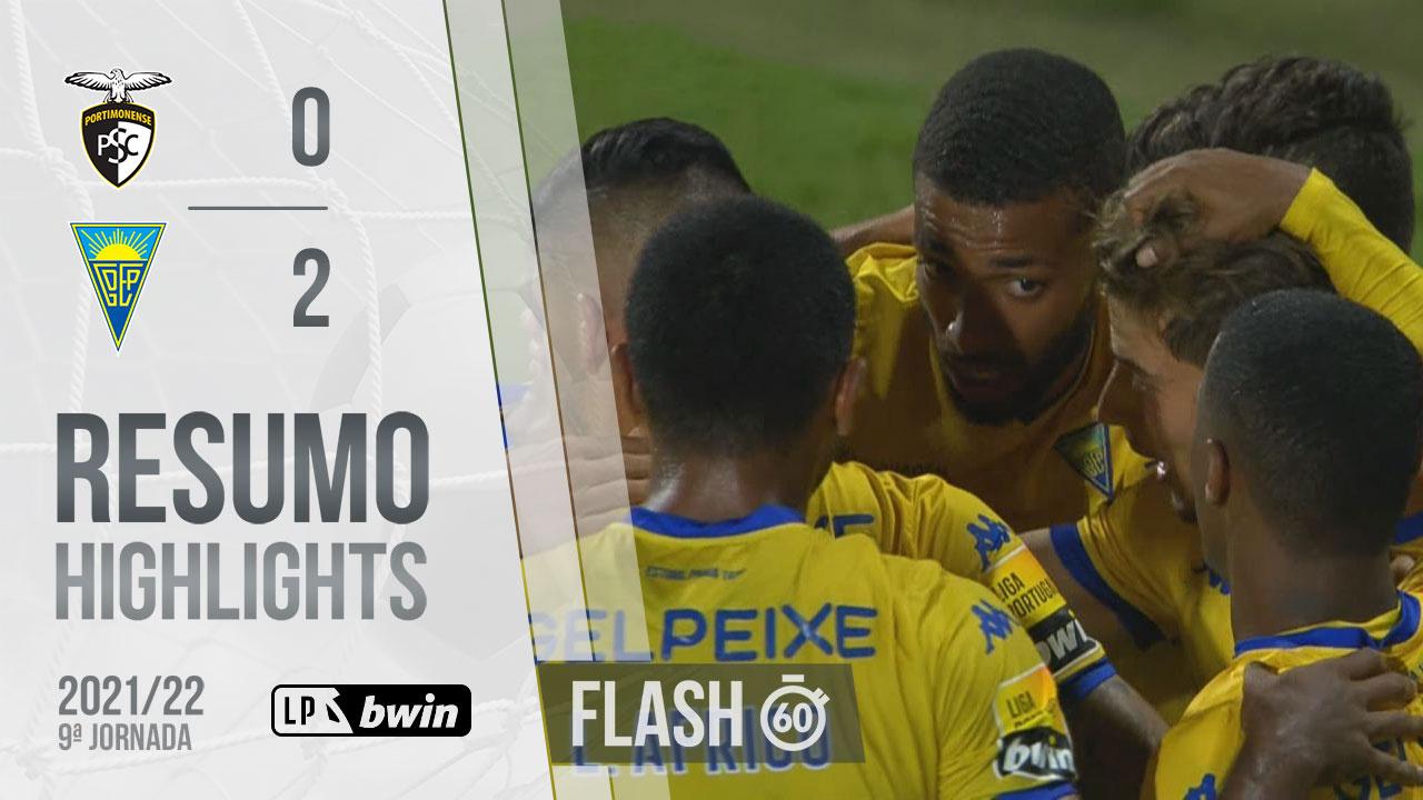 Liga Portugal bwin (9ªJ): Resumo Flash Portimonense 0-2 Estoril Praia