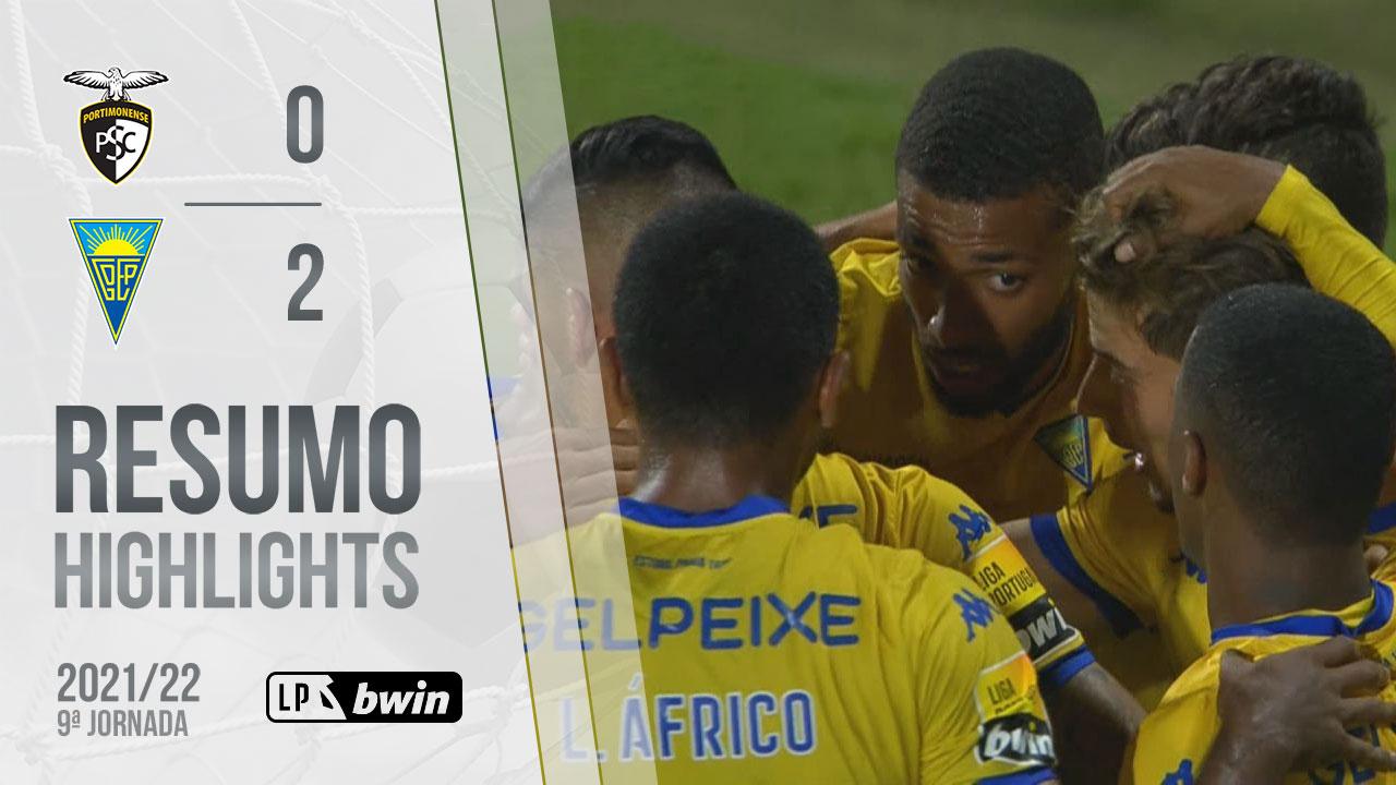 Liga Portugal bwin (9ªJ): Resumo Portimonense 0-2 Estoril Praia
