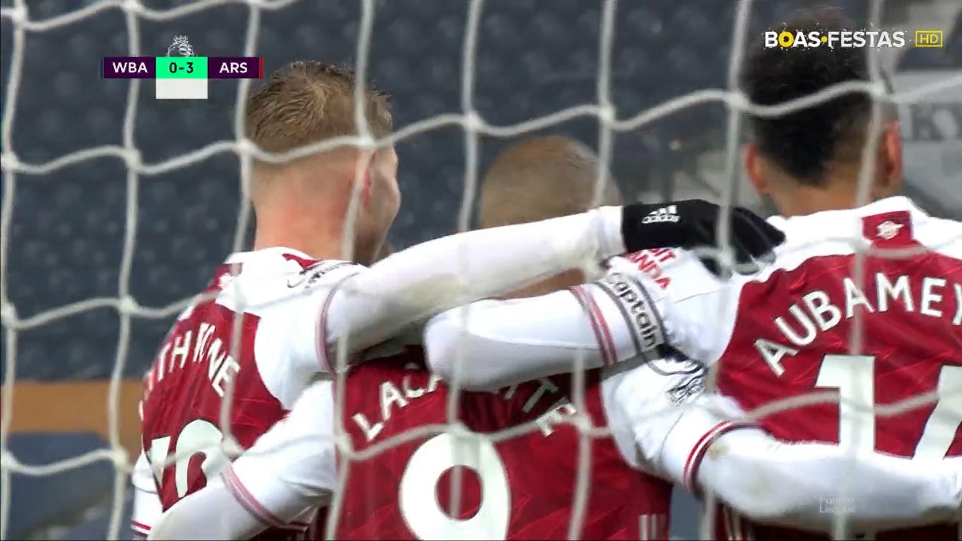 Premier League (17ª Jornada): Resumo West Bromwich Albion 0-4 Arsenal