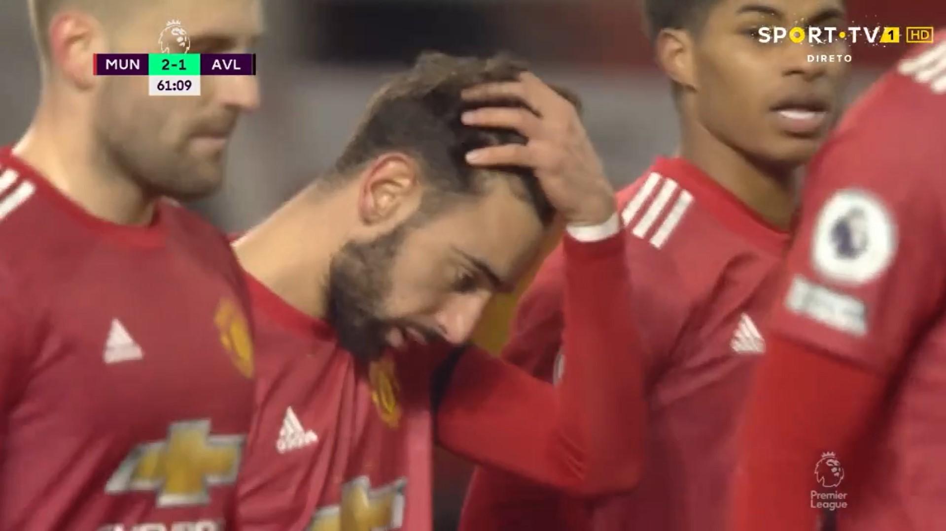 Premier League (17ª Jornada): Resumo Man. United 2-1 Aston Villa