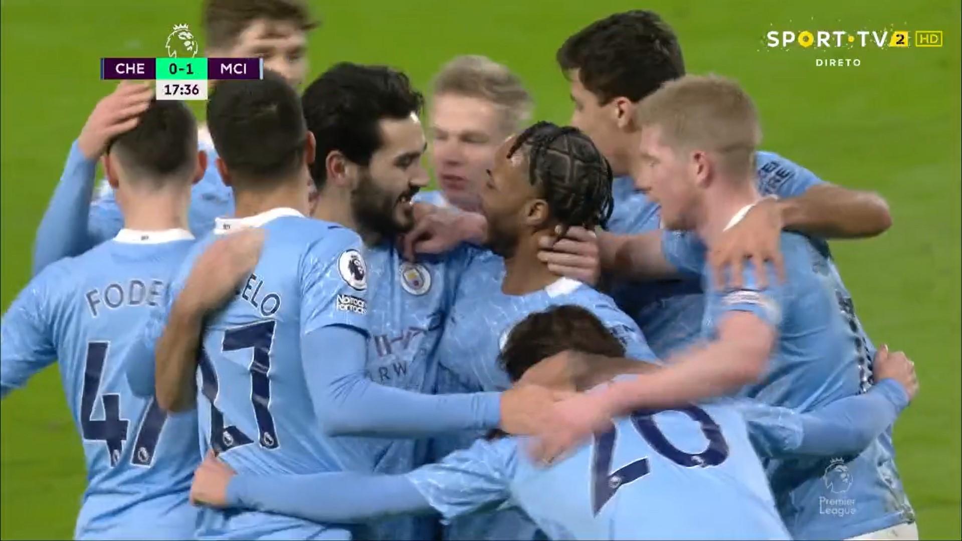 Premier League (17ª Jornada): Resumo Chelsea 1-3 Man. City
