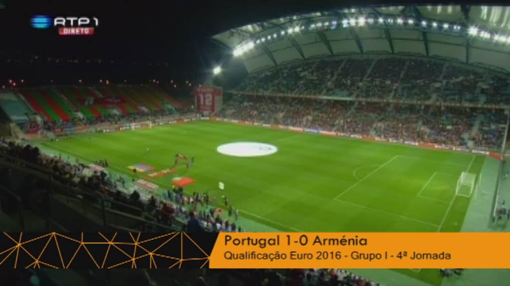Seleção Nacional (Grupo I - Jornada 4): Resumo Portugal 1-0 Arménia