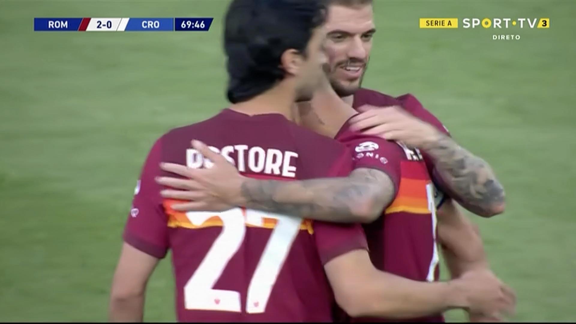 GOLO! Roma, L. Pellegrini aos 70', Roma 2-0 Crotone